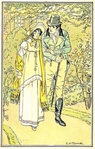 Reproducción de la Ilustración de Emma de 1898 por Charles E. Brock en las ediciones estadounidenses