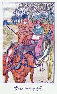 Ilustración de HM Brock Northanger Abbey 1898.